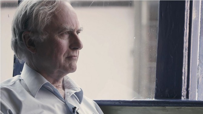 Screenshot from the trailer of Richard Dawkins and Lawrence Krauss' film 'The Unbelievers'.