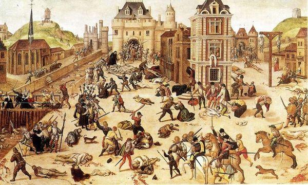At the 1572 Massacre of St Bartholomew, ultra-Catholics massacred several thousand Huguenot Protestants.