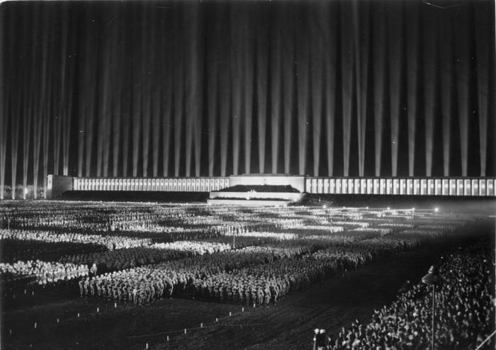 Cathedral of Light at the Nuremberg Rally, 1936.