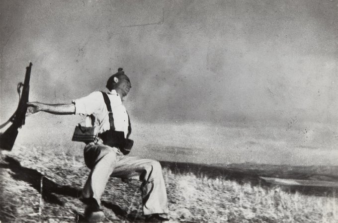 """The Falling Soldier"" by Robert Capa."
